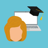 Learning graphic design , vector illustration Stock Photos