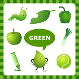 Learning Green color Stock Image