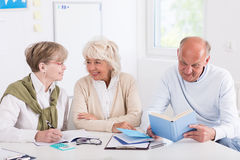 Learning group sitting in class Royalty Free Stock Image