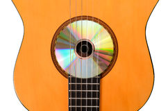 Learning guitar Royalty Free Stock Image