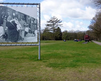Learning about the Holocaust. Camp Westerbork in the east of the Netherlands (Drenthe) was a transit camp in World War 2. Some 102.000 people, mostly Jewish, did stock photo