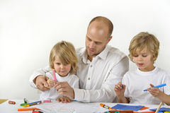 Learning at home royalty free stock photography