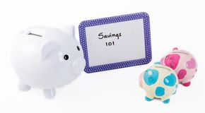 Learning how to save money Stock Photo