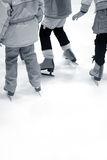 Learning Ice-skating royalty free stock photos