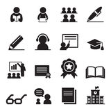 Learning icon set Stock Images
