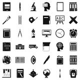 Learning icons set, simple style. Learning icons set. Simple style of 36 learning vector icons for web isolated on white background Royalty Free Stock Images