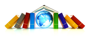 Learning and international school concept Royalty Free Stock Photos