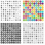 100 learning kids icons set vector variant. 100 learning kids icons set vector in 4 variant for any web design isolated on white royalty free illustration