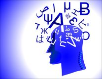 Learning language Stock Image