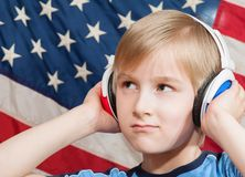 Learning language - American English (boy) Stock Photography