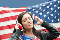 Learning language - American English (girl) Royalty Free Stock Photography