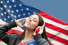 Learning language - American English (girl, left) Stock Photo