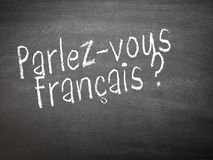 Learning language - French Stock Photo