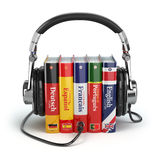 Learning languages online. Audiobooks concept.  Royalty Free Stock Photo