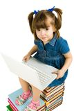 Learning with laptop Royalty Free Stock Photos