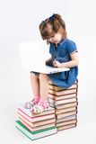 Learning with laptop Royalty Free Stock Photo
