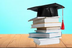 Learning. Book education textbook isolated stack success stock image