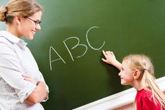 Learning letters stock image