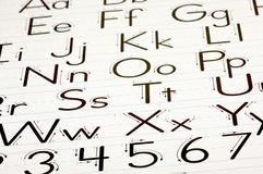 Learning Letters Chart stock photography