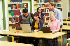 Learning in library Stock Photo