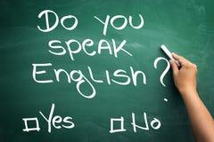 Learning major global language - English. Stock Photography