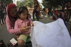 Learning make batik Royalty Free Stock Photo