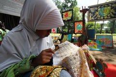 Learning make batik Royalty Free Stock Photography