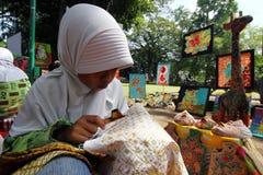 Learning make batik Royalty Free Stock Photos