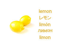 Learning Many Language; LEMON Stock Image