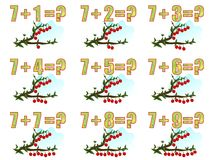 Learning math, adding 7, cdr vector Stock Photography