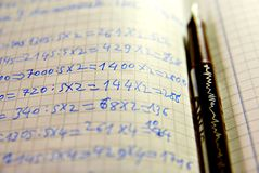 Learning mathematics Royalty Free Stock Photo