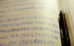 Learning mathematics Royalty Free Stock Images