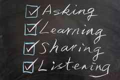 Learning methods concept Royalty Free Stock Photo