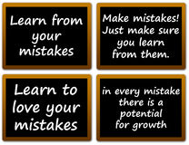 Learning from mistakes. In every possible way Royalty Free Stock Photos