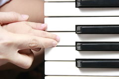 Learning Music and the Piano Stock Photo