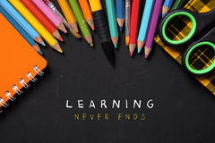 Learning Never Ends Stock Photo