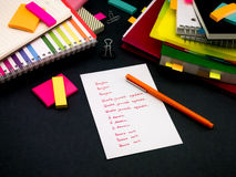 Learning New Language Writing Words Many Times on the Notebook; Royalty Free Stock Image
