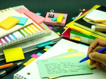 Learning New Language Writing Words Many Times on the Notebook; Stock Photography