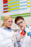 Learning new liquid properties Royalty Free Stock Photos