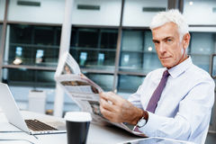 Learning the news Stock Images
