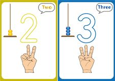 Learning the numbers 0-10, Flash Cards, educational preschool activities. Worksheets for kids Stock Photos