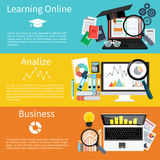 Learning online, analize and business royalty free illustration