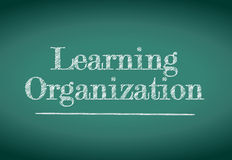 Learning organization illustration design Royalty Free Stock Images