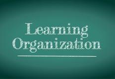 Learning organization illustration design. Over a blackboard Vector Illustration