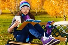 Learning outside in park Stock Photography