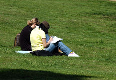 Learning in park Stock Images