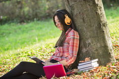 Learning in park - studying Stock Photography