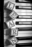 Learning The Piano Royalty Free Stock Photo