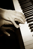 Learning piano royalty free stock photography