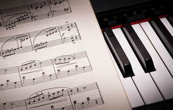 Learning the Piano Piece Royalty Free Stock Photo